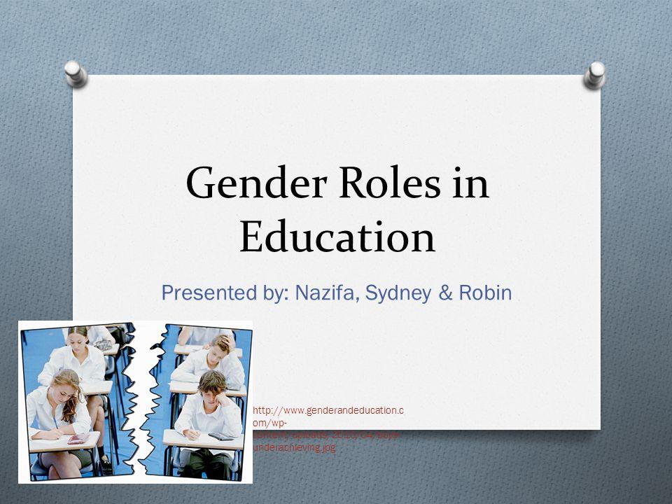 Gender Roles in Education