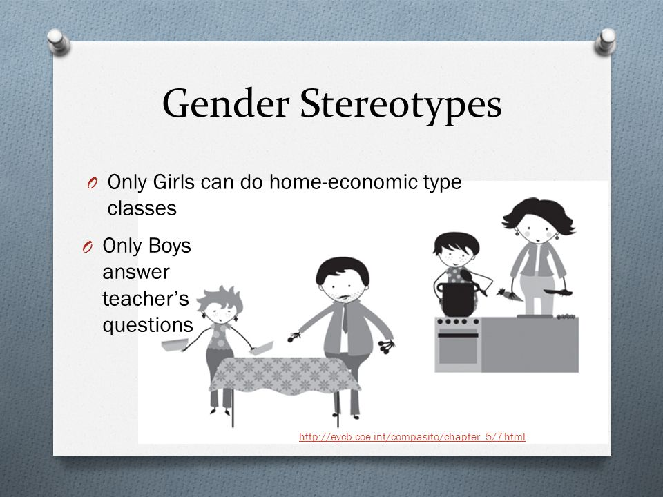 Gender Stereotypes Only Girls can do home-economic type classes