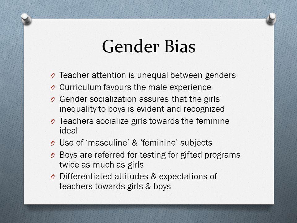 Gender Bias Teacher attention is unequal between genders