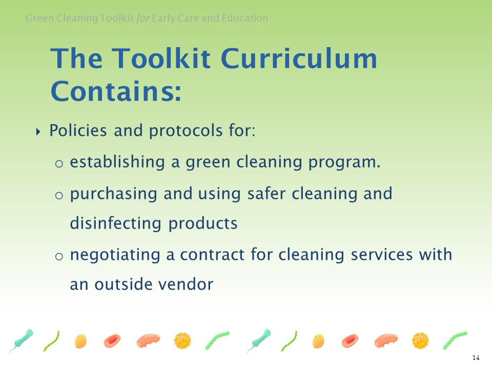The Toolkit Curriculum Contains: