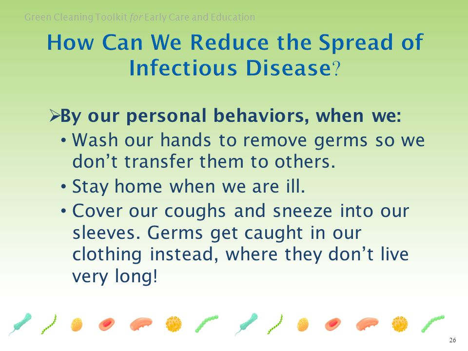 How Can We Reduce the Spread of Infectious Disease