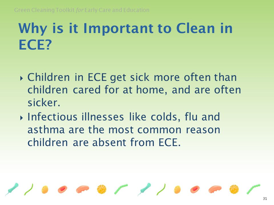 Why is it Important to Clean in ECE