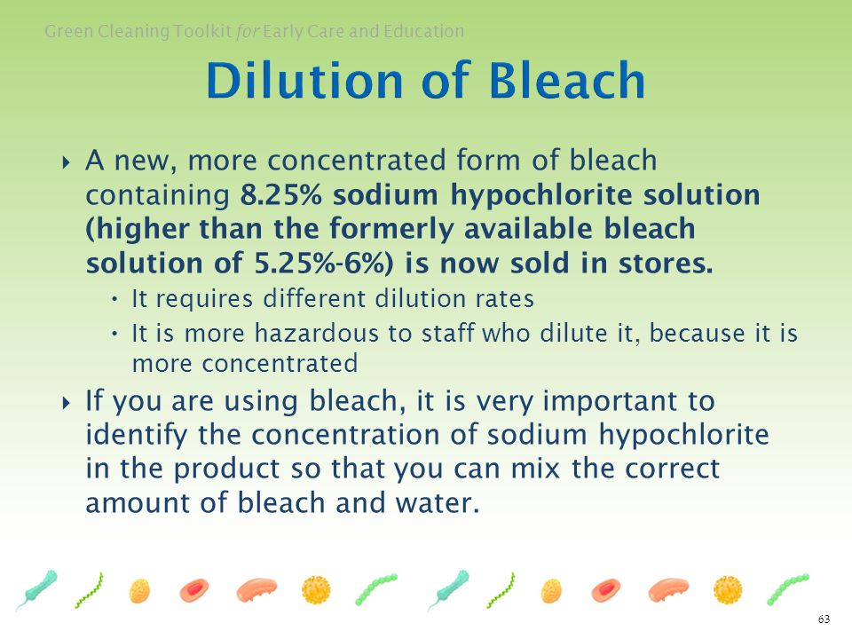Dilution of Bleach