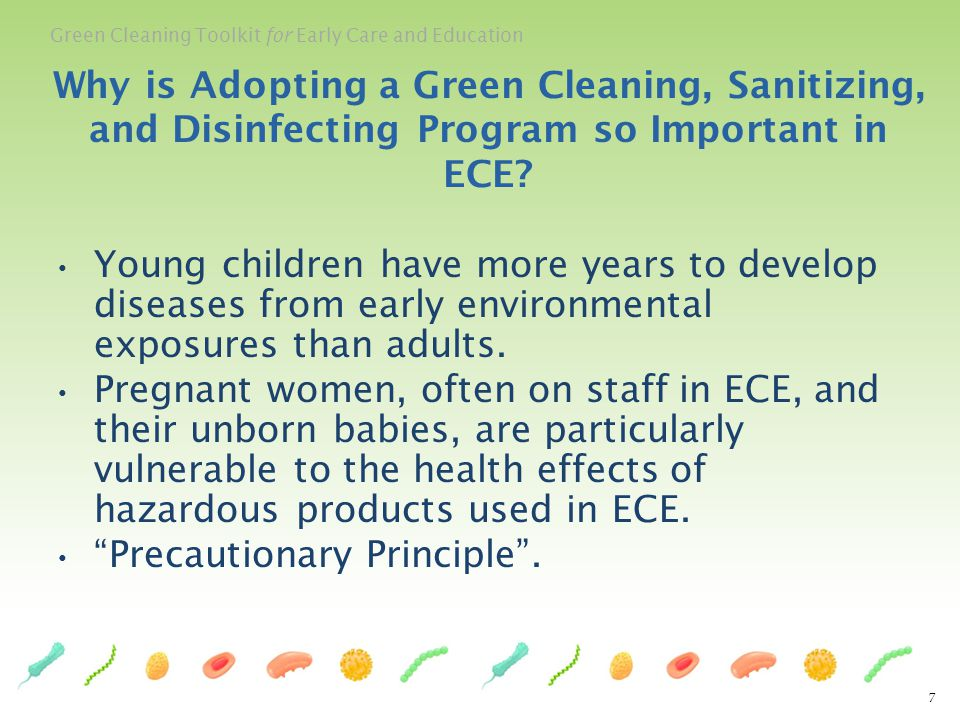 Why is Adopting a Green Cleaning, Sanitizing, and Disinfecting Program so Important in ECE