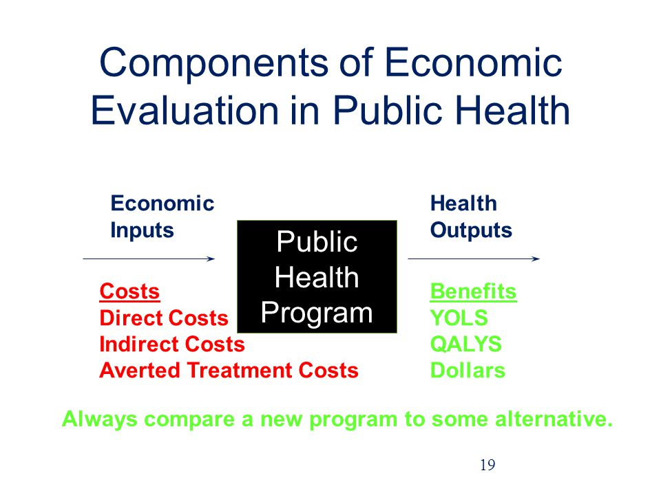 Components of Economic Evaluation in Public Health