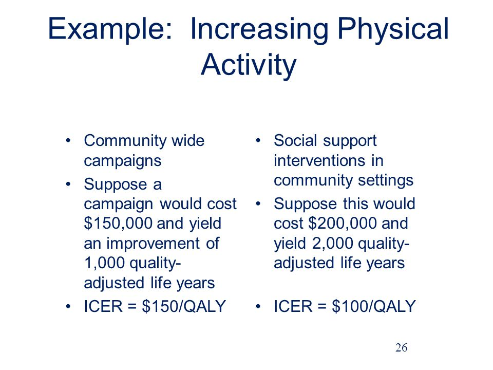 Example: Increasing Physical Activity