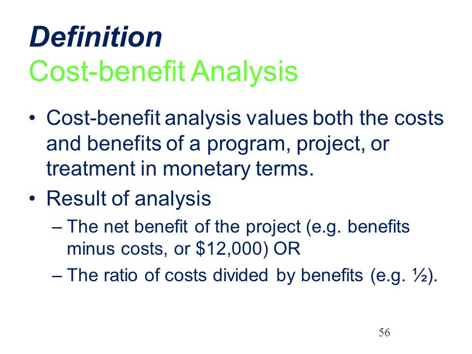 Definition Cost-benefit Analysis