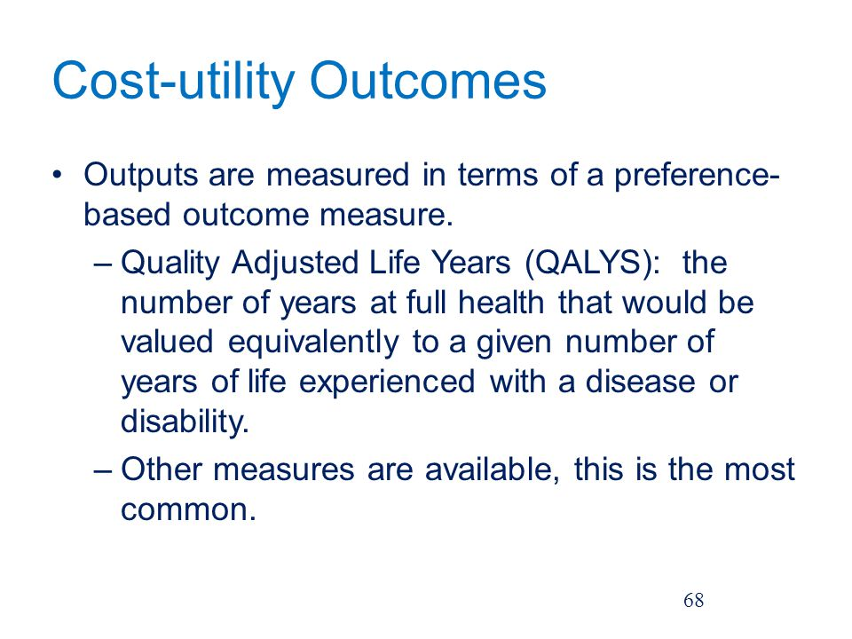 Cost-utility Outcomes