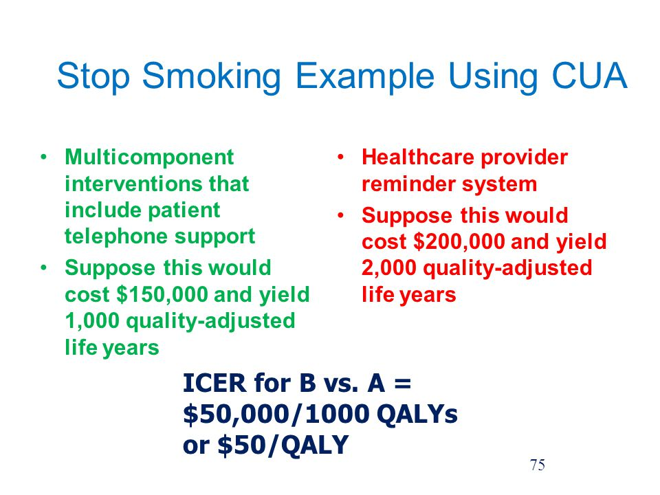 Stop Smoking Example Using CUA