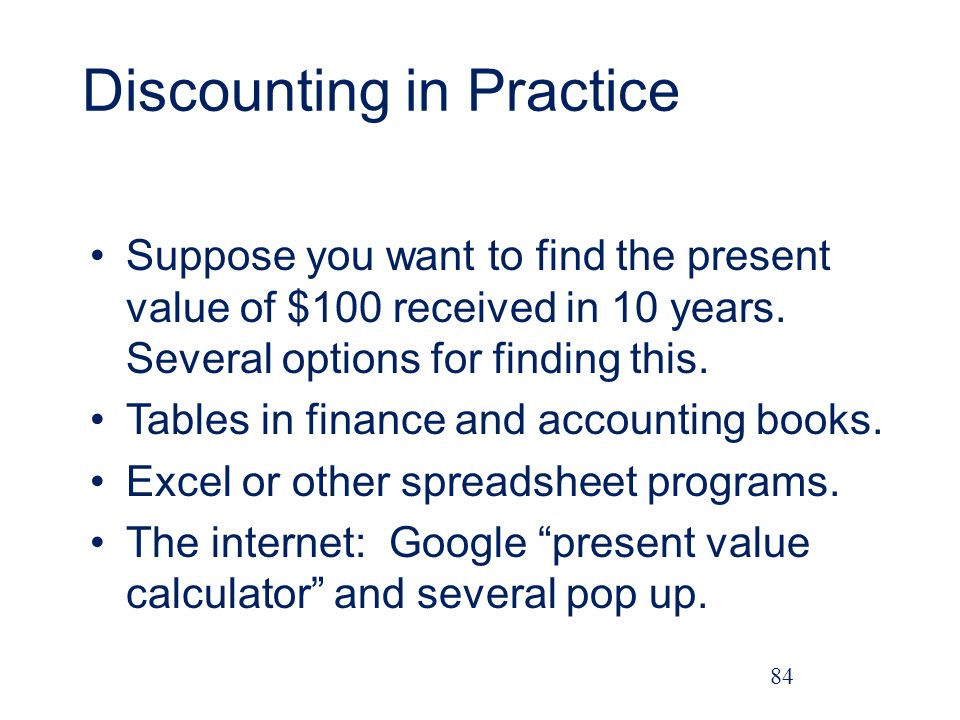 Discounting in Practice