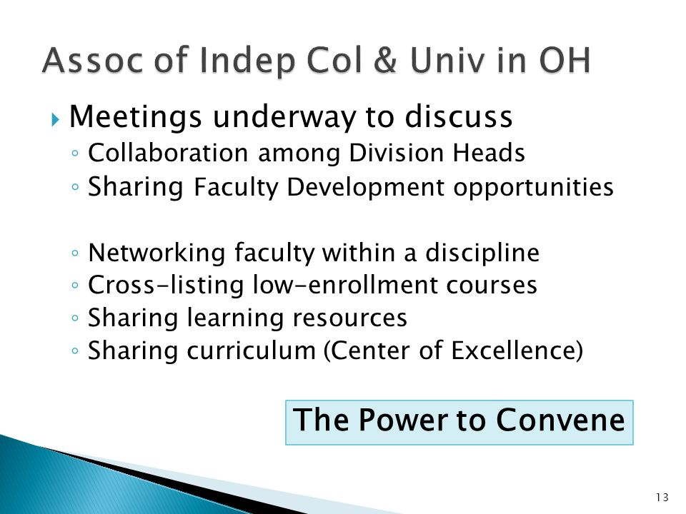 Assoc of Indep Col & Univ in OH