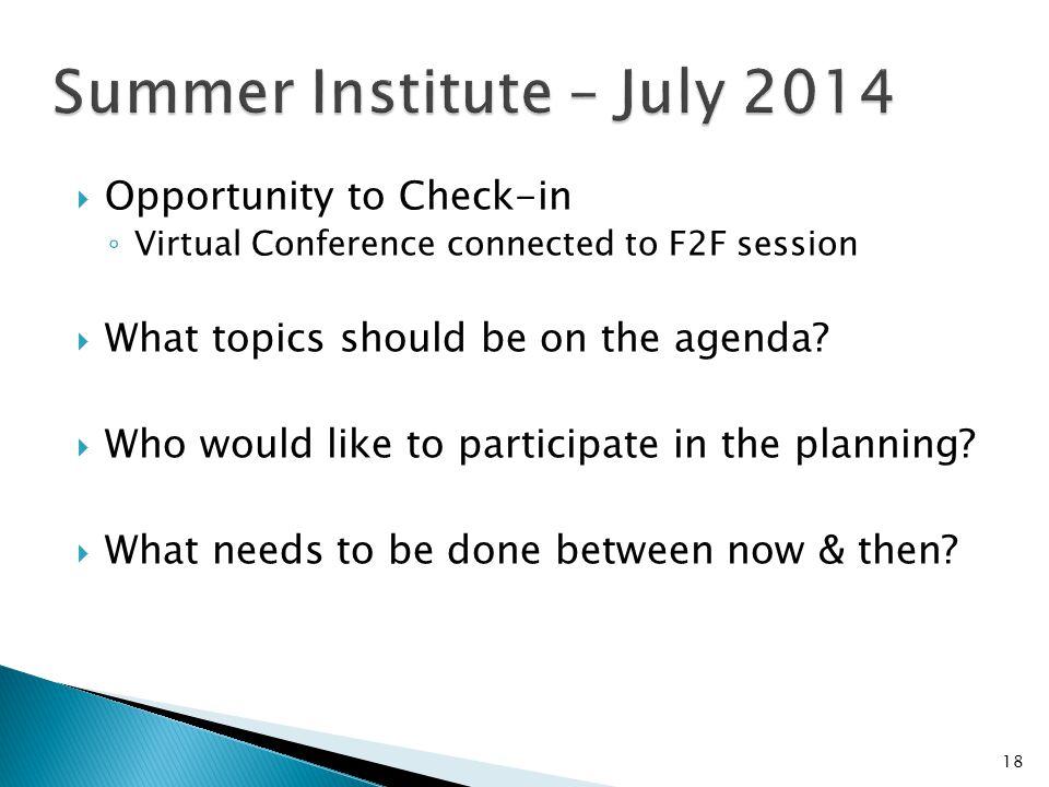 Summer Institute – July 2014