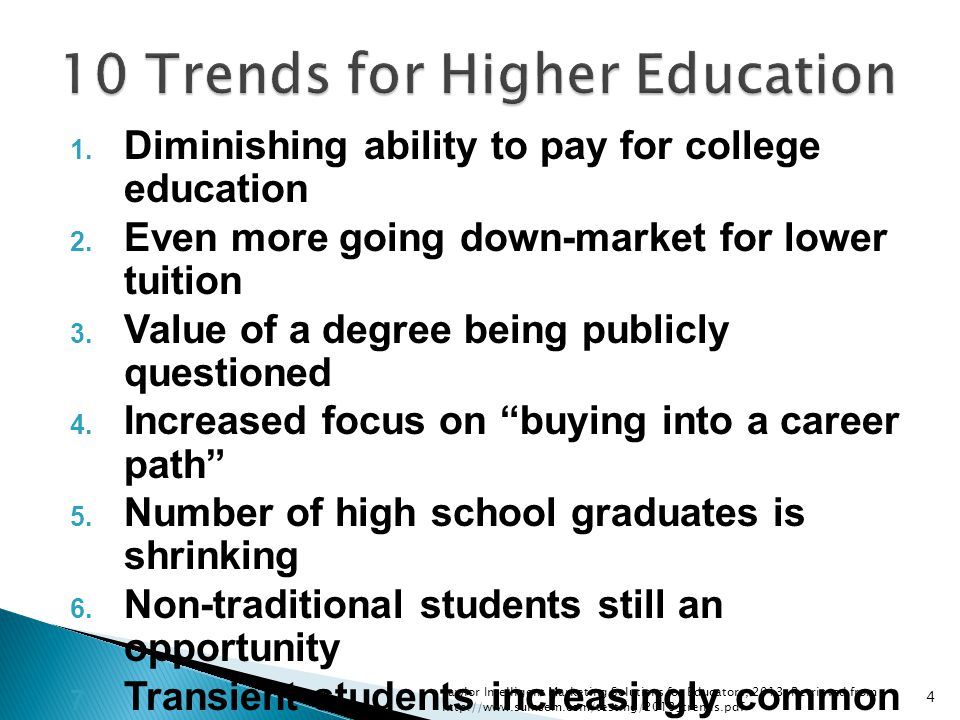 10 Trends for Higher Education