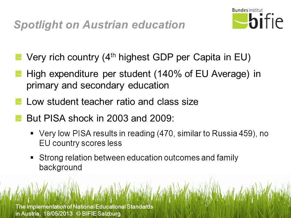 Spotlight on Austrian education