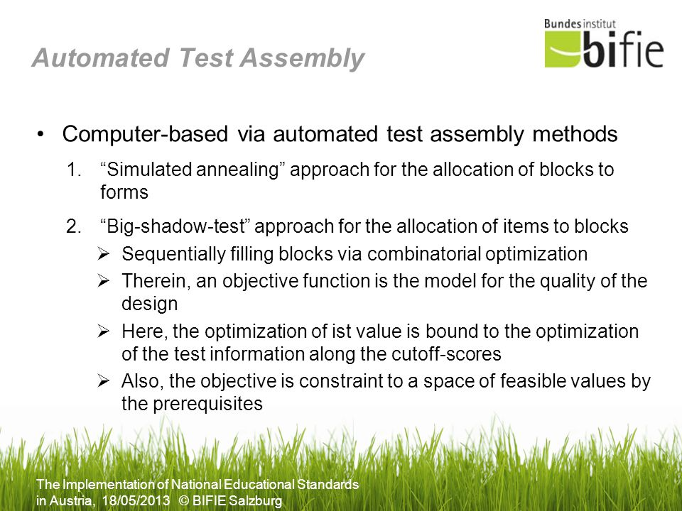 Automated Test Assembly