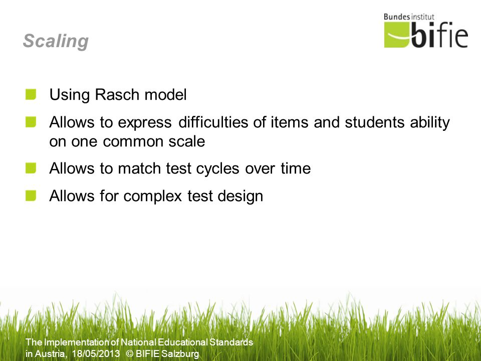 Scaling Using Rasch model