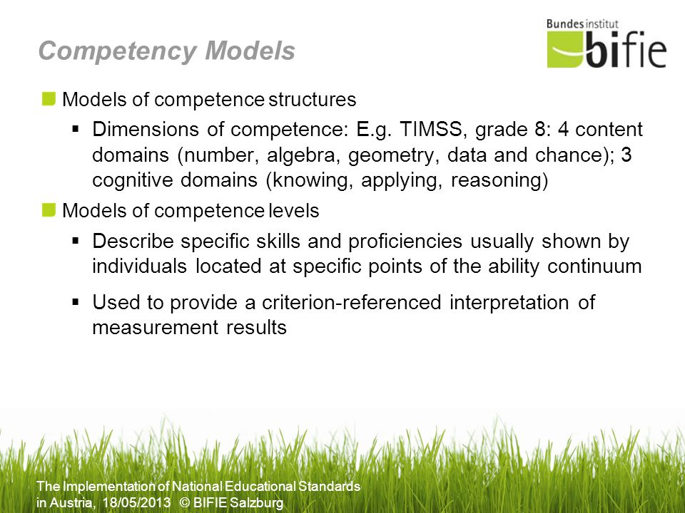 Competency Models Models of competence structures.
