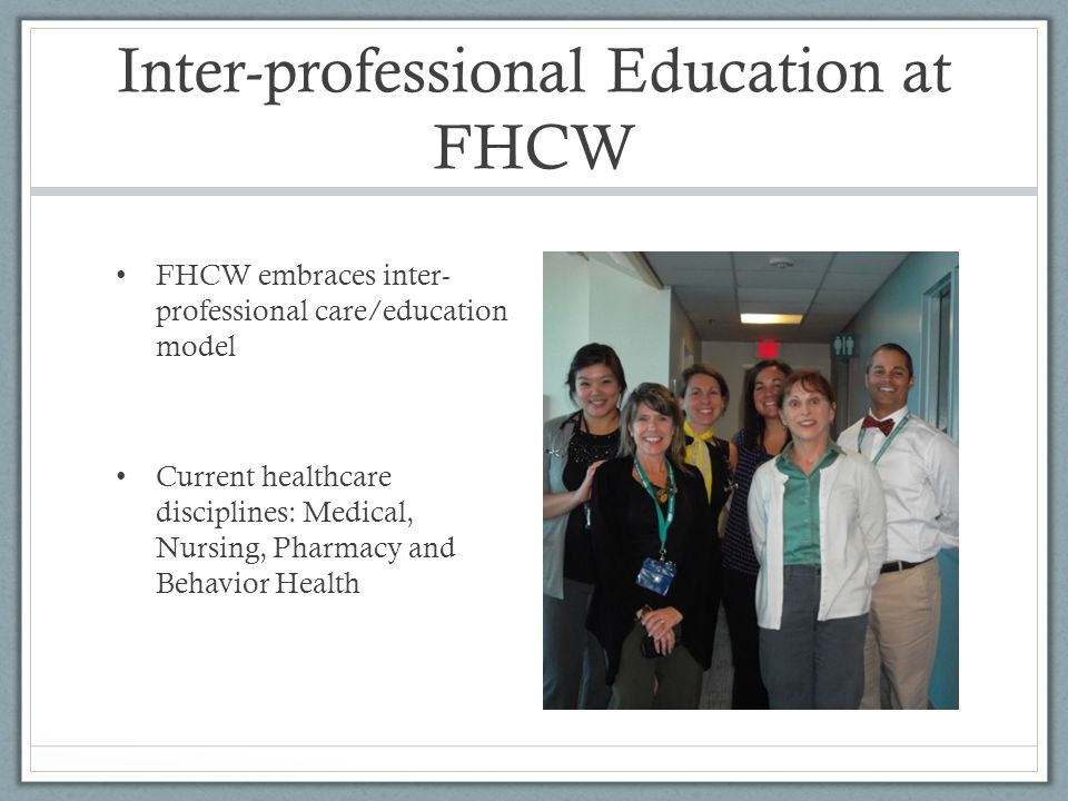 Inter-professional Education at FHCW
