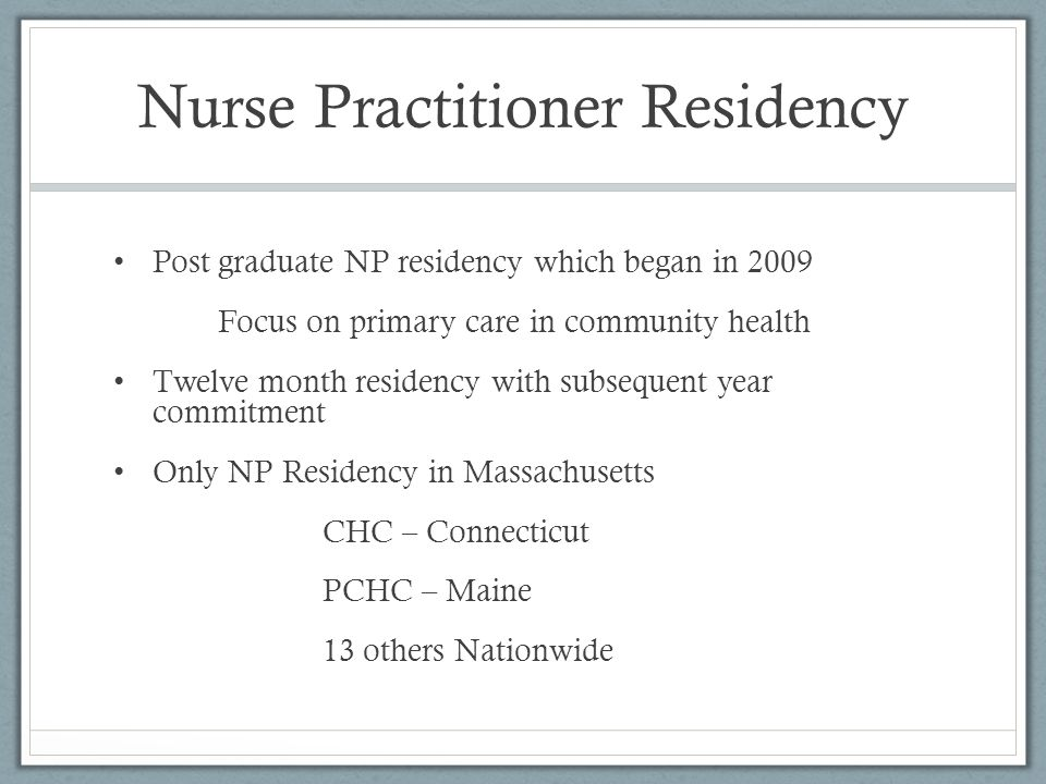 Nurse Practitioner Residency