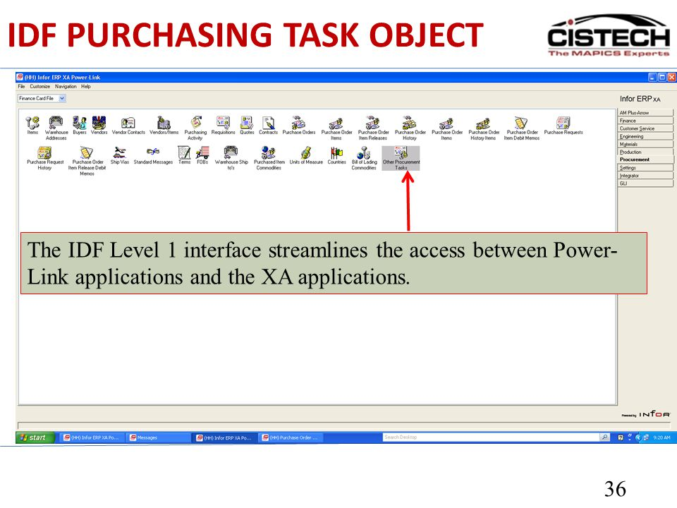IDF PURCHASING TASK OBJECT