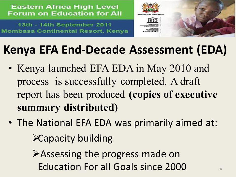 Kenya EFA End-Decade Assessment (EDA)