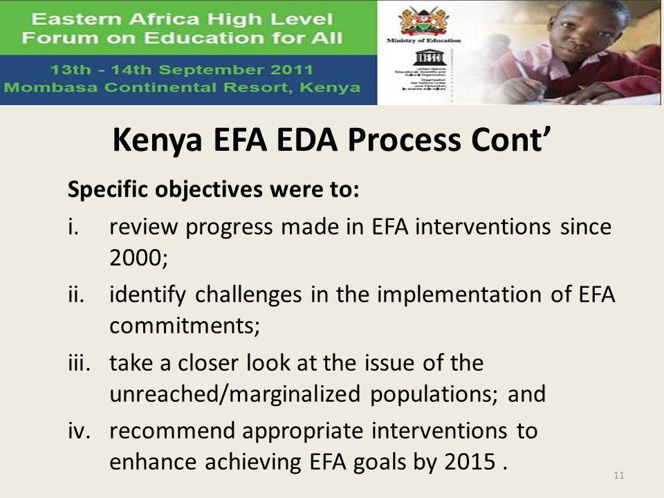 Kenya EFA EDA Process Cont'