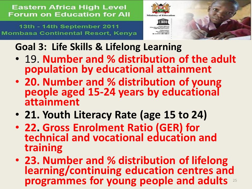 21. Youth Literacy Rate (age 15 to 24)