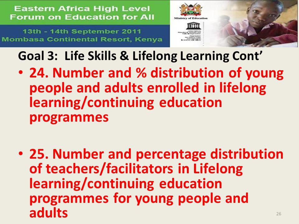 Goal 3: Life Skills & Lifelong Learning Cont'
