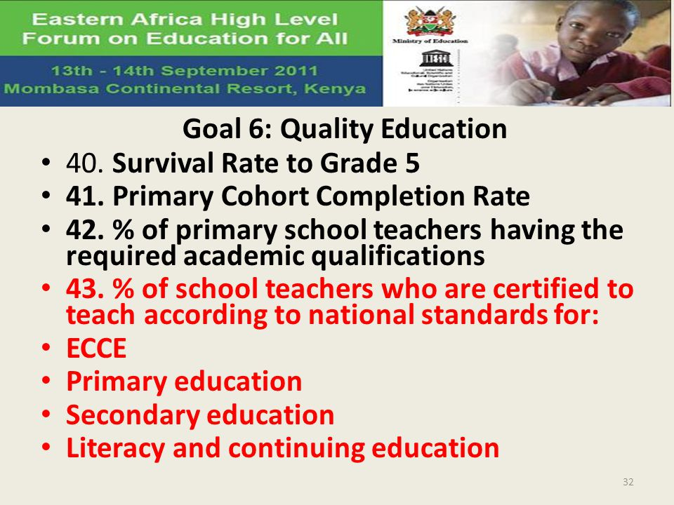 Goal 6: Quality Education