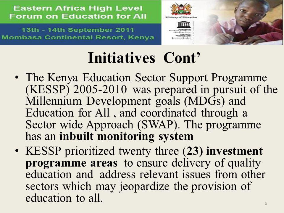 Initiatives Cont'