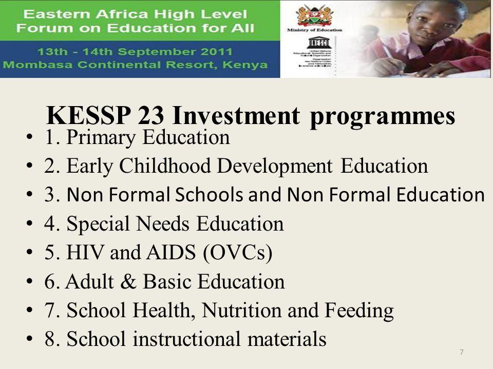 KESSP 23 Investment programmes