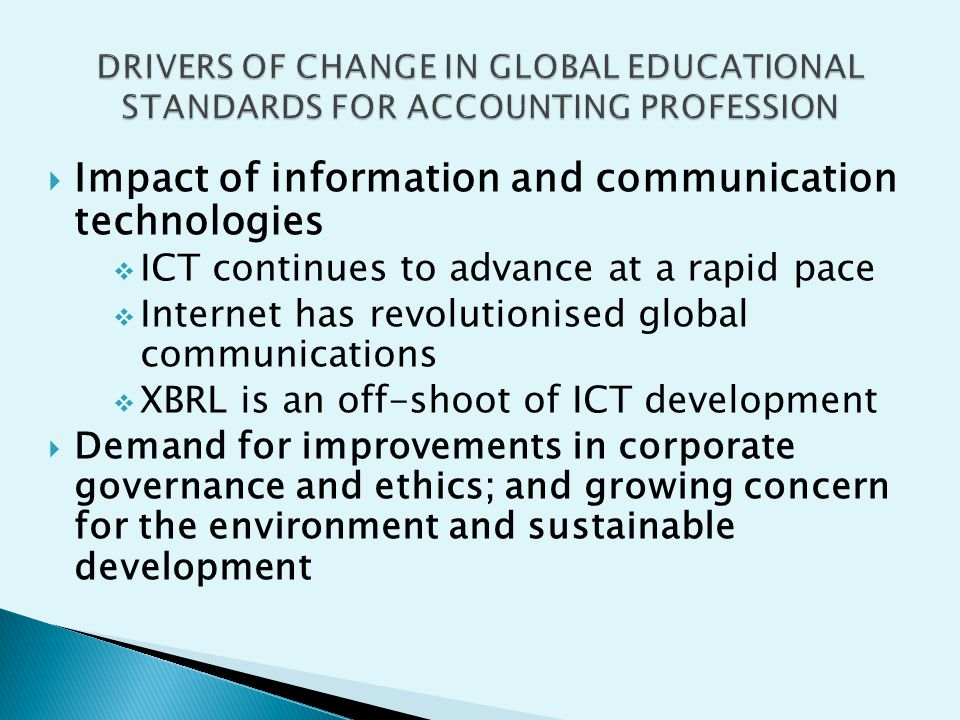 Impact of information and communication technologies