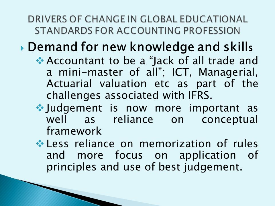 Demand for new knowledge and skills