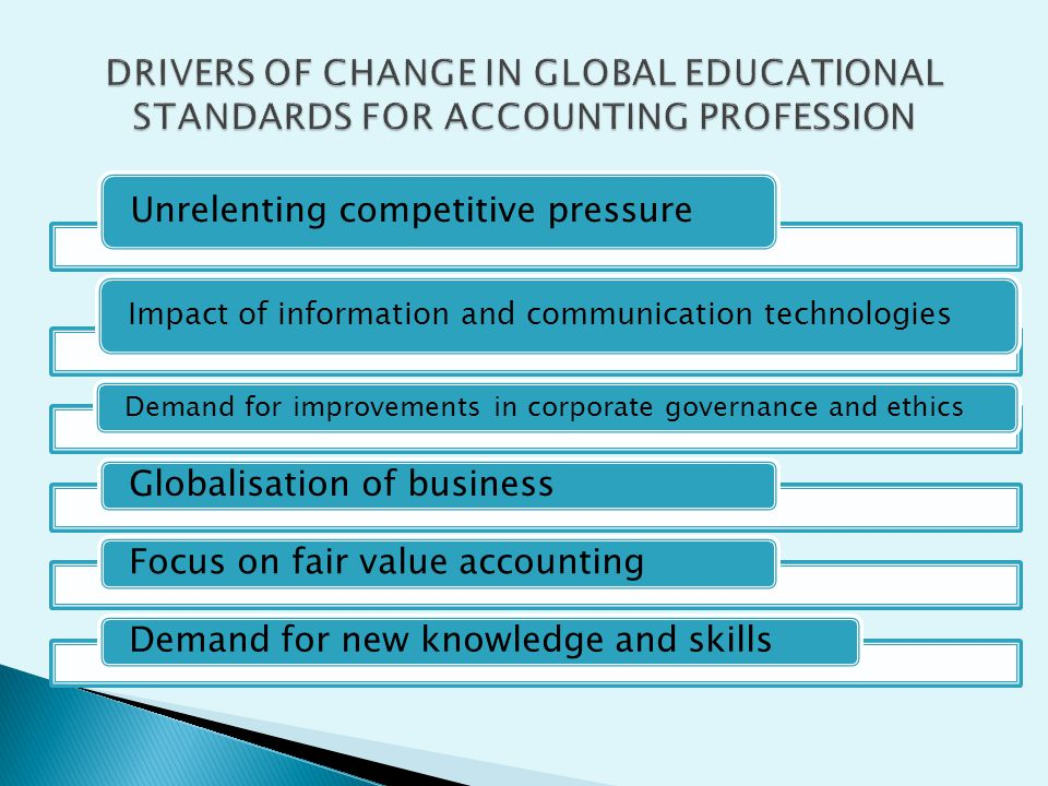 DRIVERS OF CHANGE IN GLOBAL EDUCATIONAL STANDARDS FOR ACCOUNTING PROFESSION
