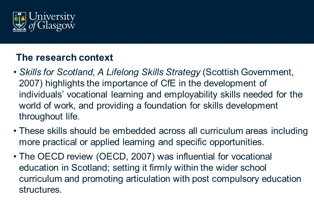 The research context The concept underpinning this policy also reflects recent research into effective teaching and learning that suggests that.
