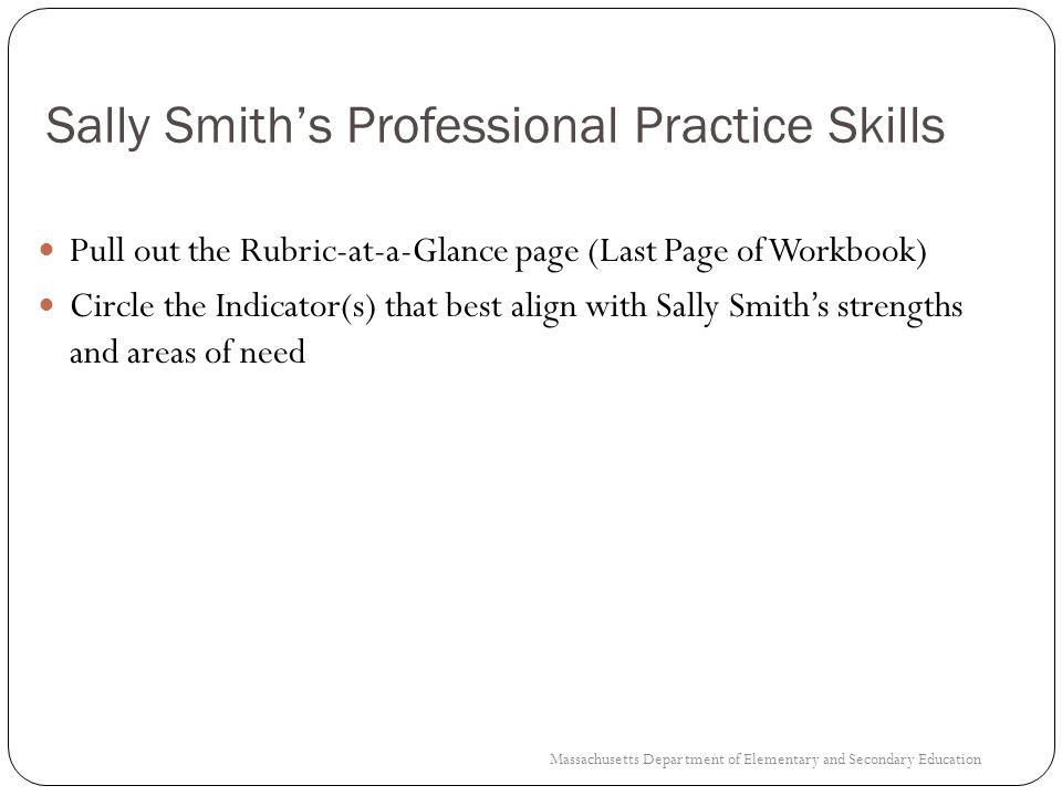 Sally Smith's Professional Practice Skills