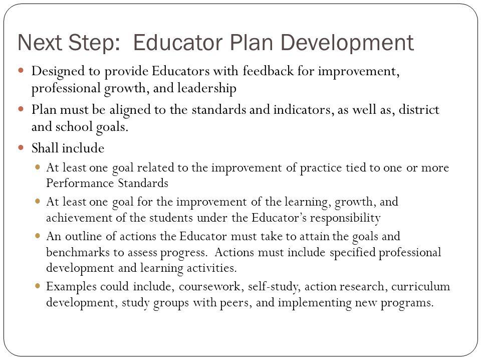 Next Step: Educator Plan Development