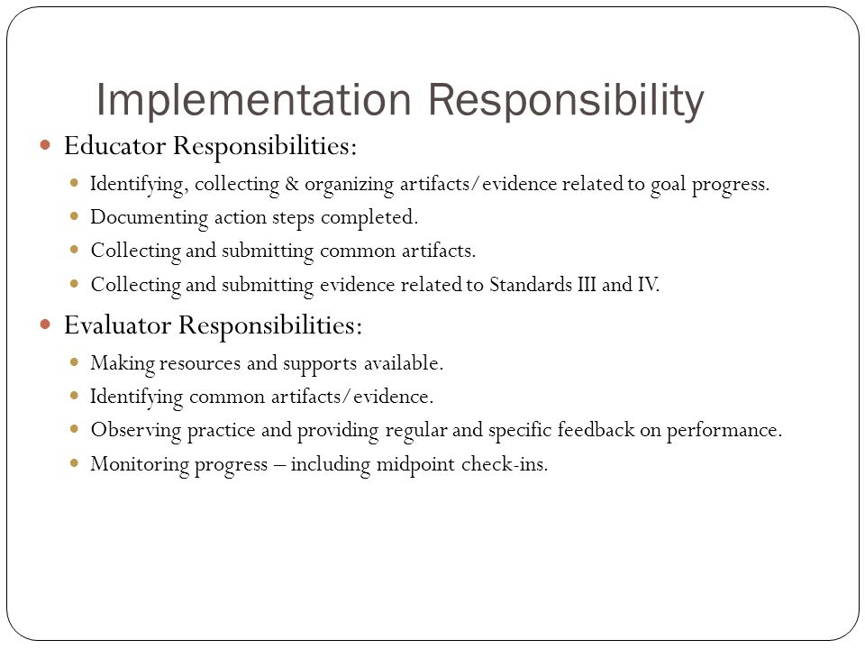 Implementation Responsibility