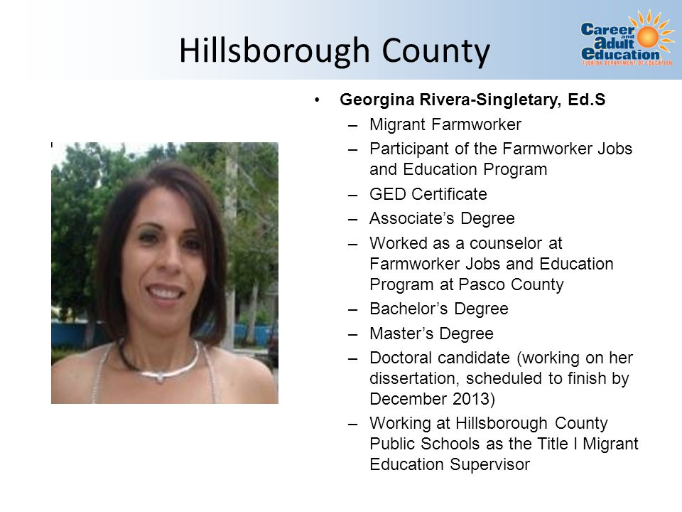 Hillsborough County Georgina Rivera-Singletary, Ed.S