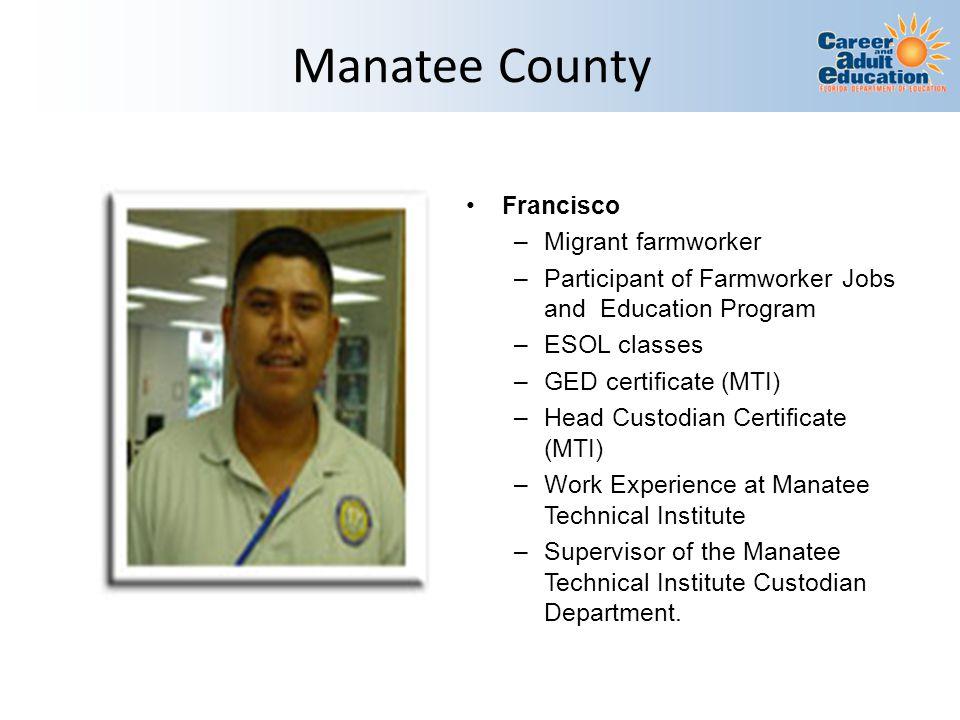 Manatee County Francisco Migrant farmworker