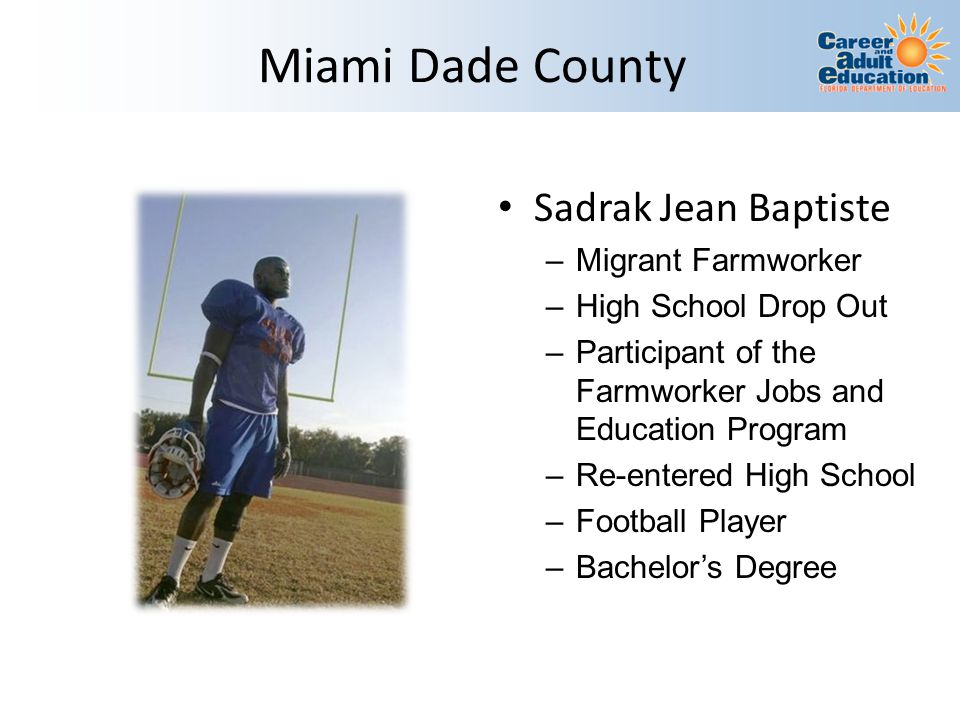Miami Dade County Sadrak Jean Baptiste Migrant Farmworker