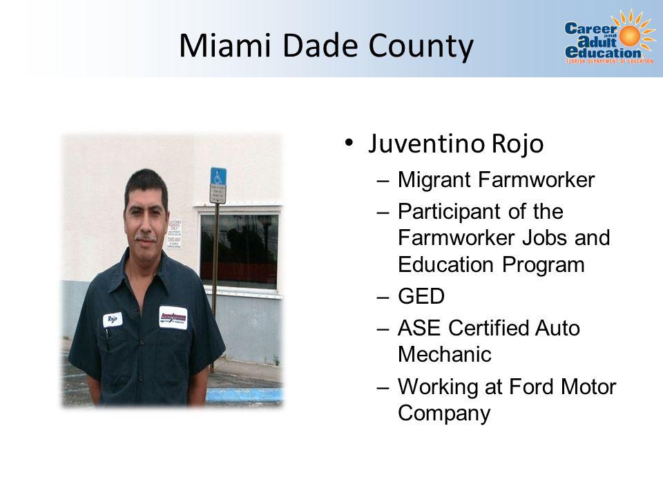 Miami Dade County Juventino Rojo Migrant Farmworker