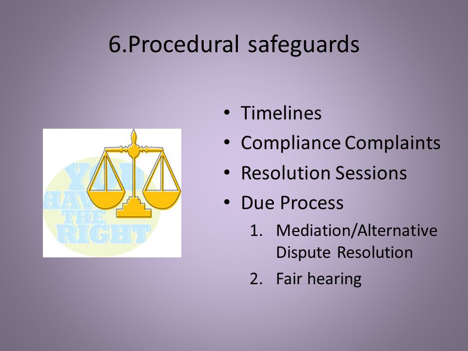 6.Procedural safeguards