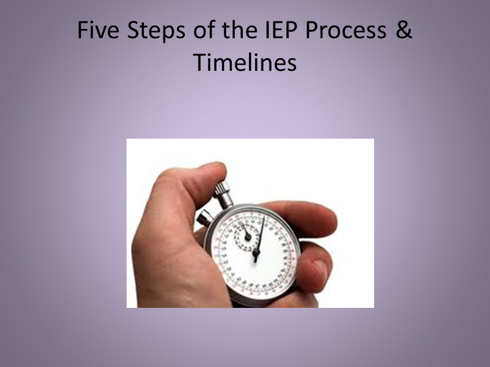 Five Steps of the IEP Process & Timelines