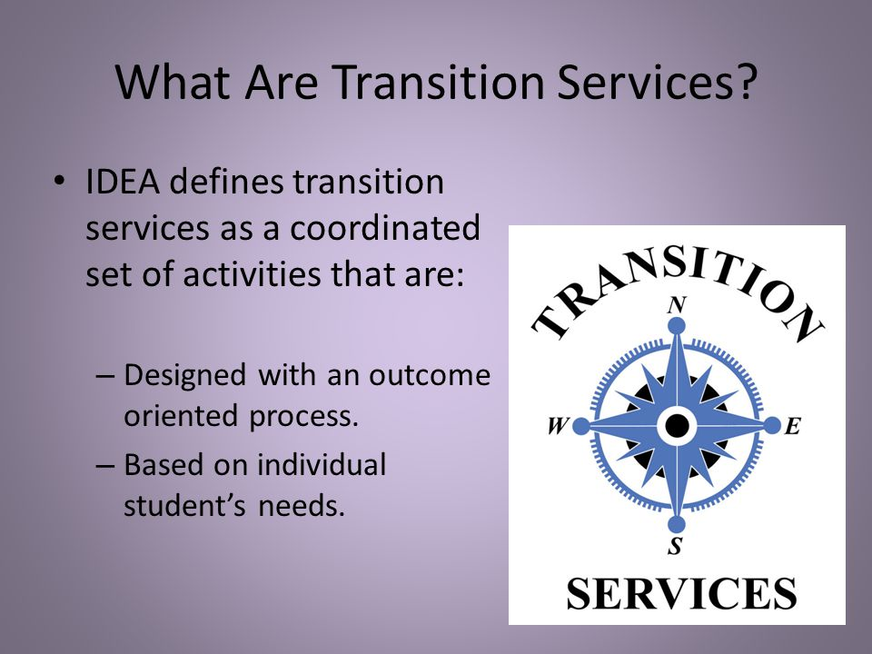 What Are Transition Services