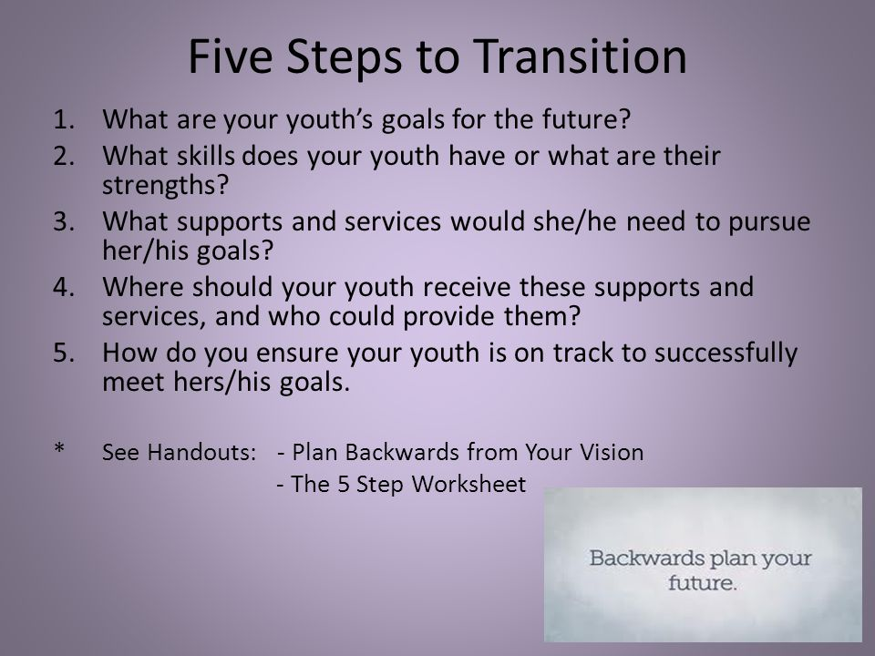 Five Steps to Transition