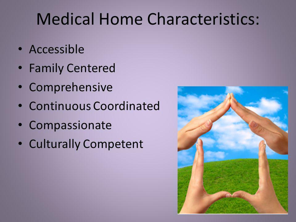 Medical Home Characteristics:
