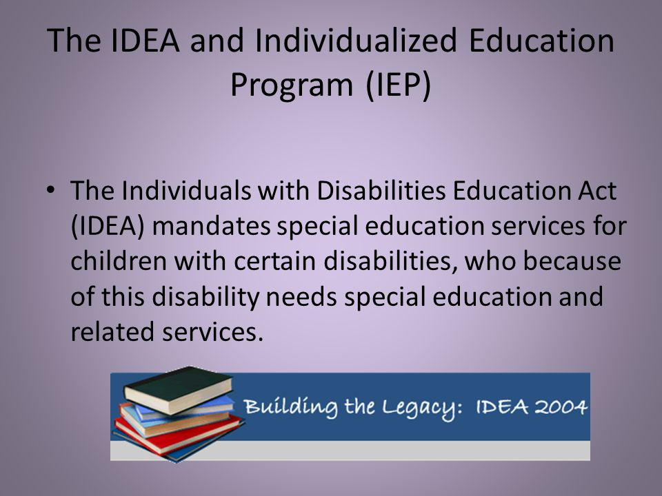 The IDEA and Individualized Education Program (IEP)