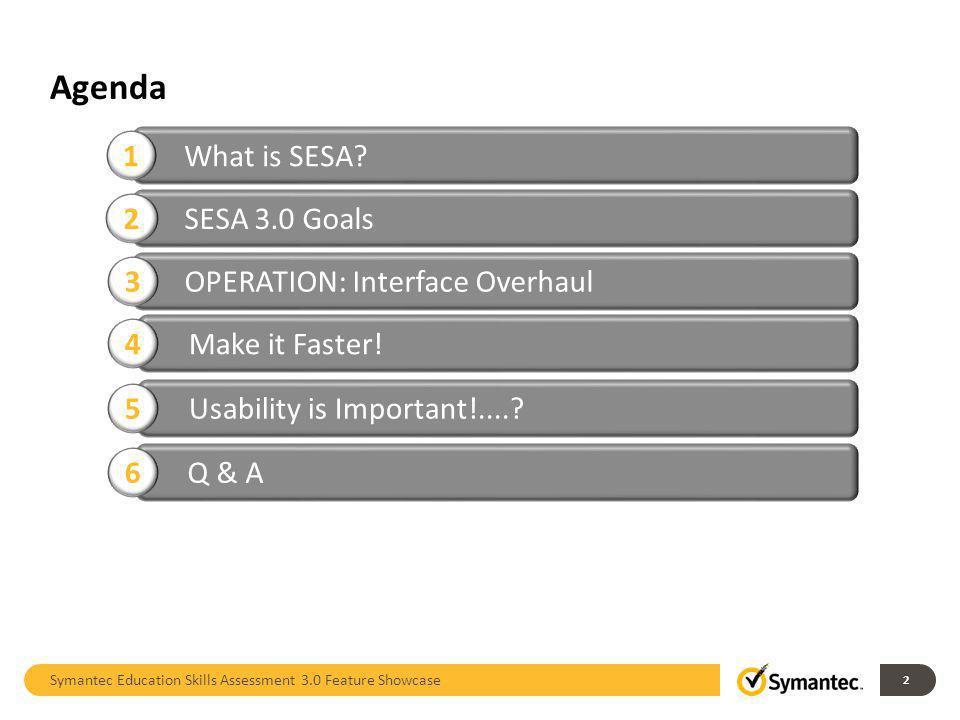 Agenda 1 What is SESA 2 SESA 3.0 Goals 3
