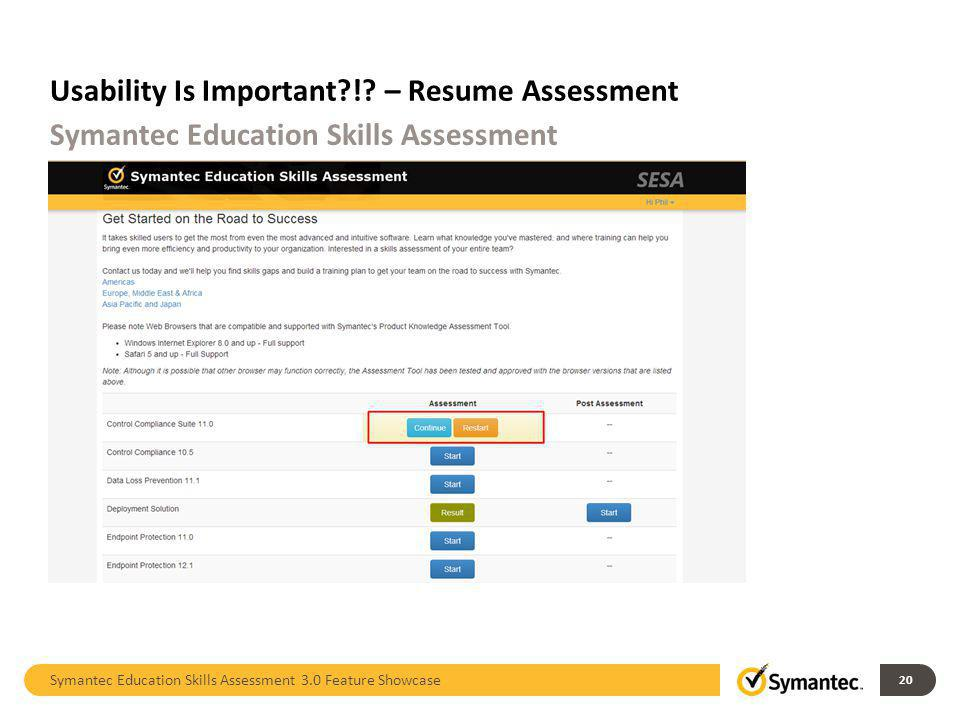 Usability Is Important ! – Resume Assessment